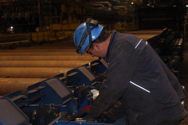 Intervention en sidérurgie sur les entrainements d'un laminoir