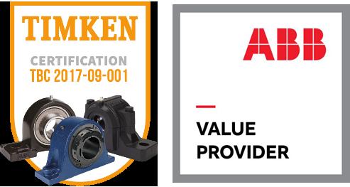 Certifications paliers TIMKEN et moteurs ABB